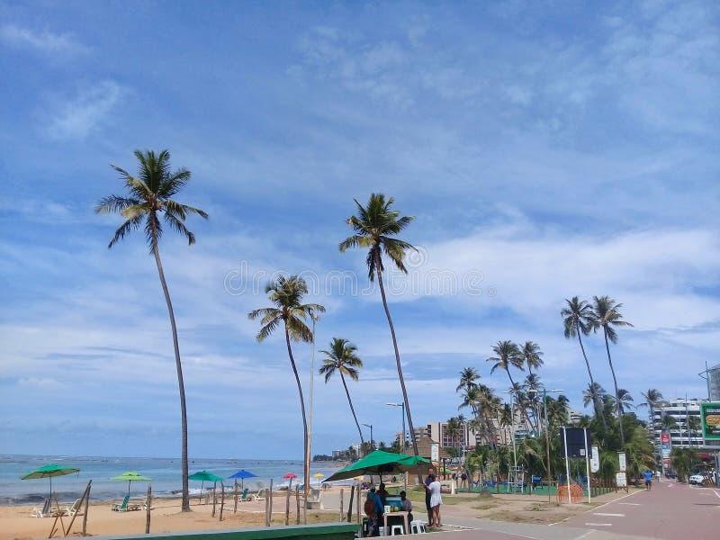 MACEIO, AL, БРАЗИЛИЯ - 8-ое мая 2019: Пляж Jatiuca стоковые фото