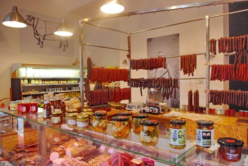 Macellaio Shop immagine stock