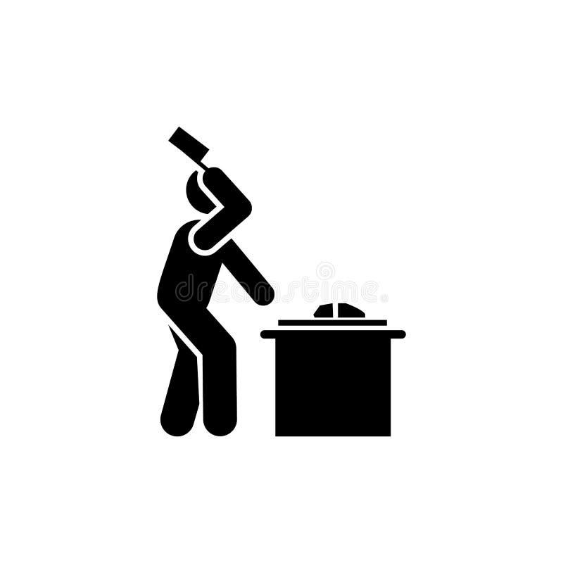 Macellaio, taglio, icona della carne Elemento dell'icona dei lavoratori Icona premio di progettazione grafica di qualit? Segni ed illustrazione di stock