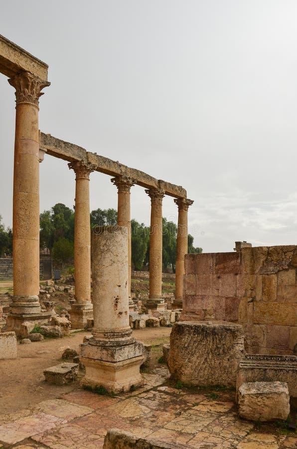Macellum, Jerash immagine stock libera da diritti