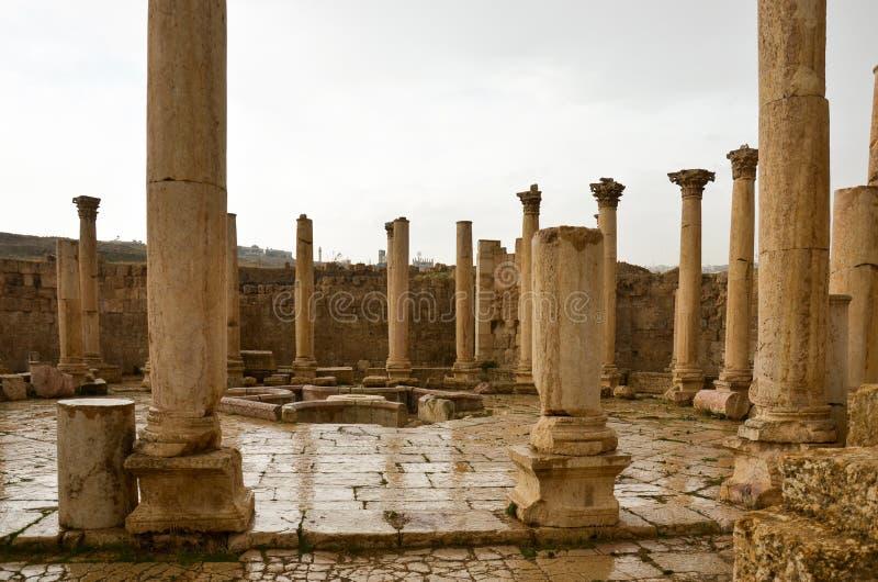 Macellum, Jerash fotografie stock libere da diritti