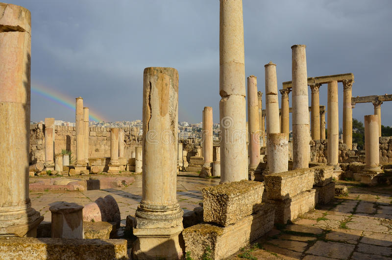 Macellum, Jerash immagini stock