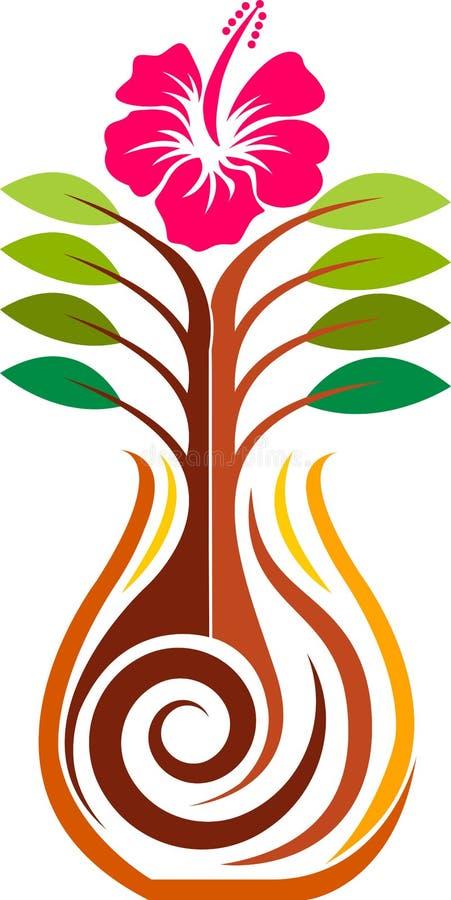 Maceta del hibisco ilustración del vector
