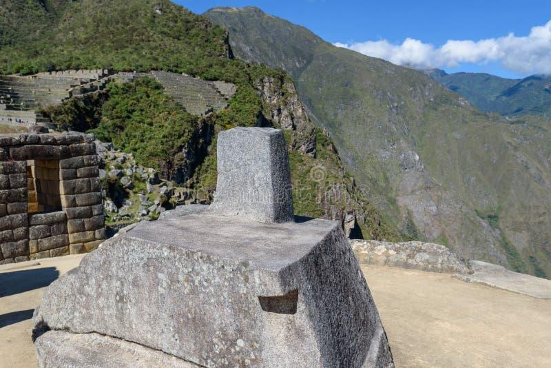 Mach Picchu - ceremoniał skała zdjęcia royalty free