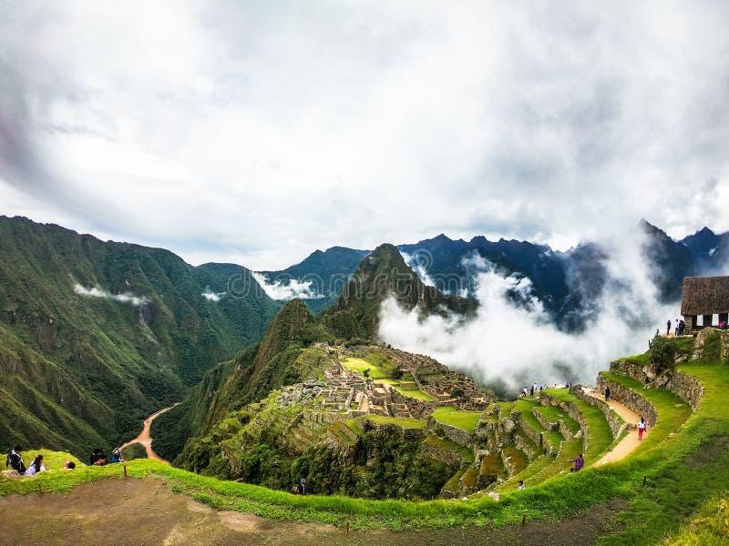 Mach Picchu - cud świat, światowego dziedzictwa miejsce Przegrany miasto w Peru fotografia royalty free