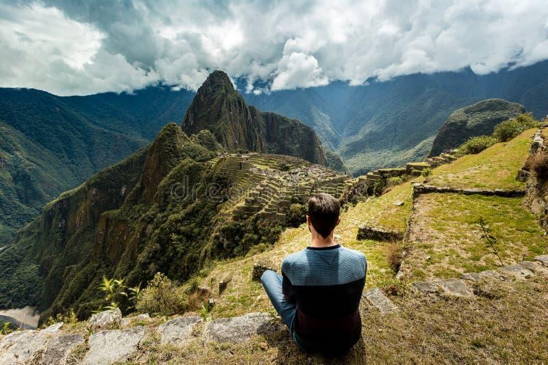 Mach Picchu, Cuzco, Peru, Myśleć wokoło zdjęcia stock