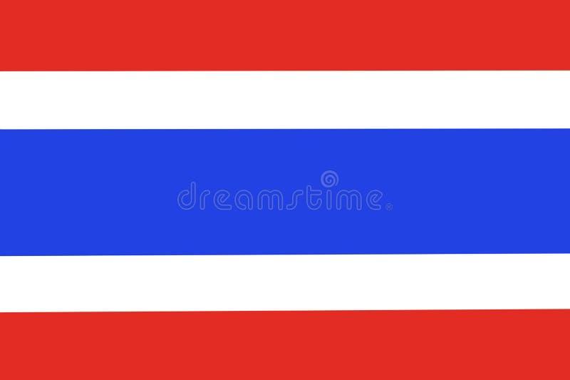 Machać flaga Tajlandia na białym tle ilustracji