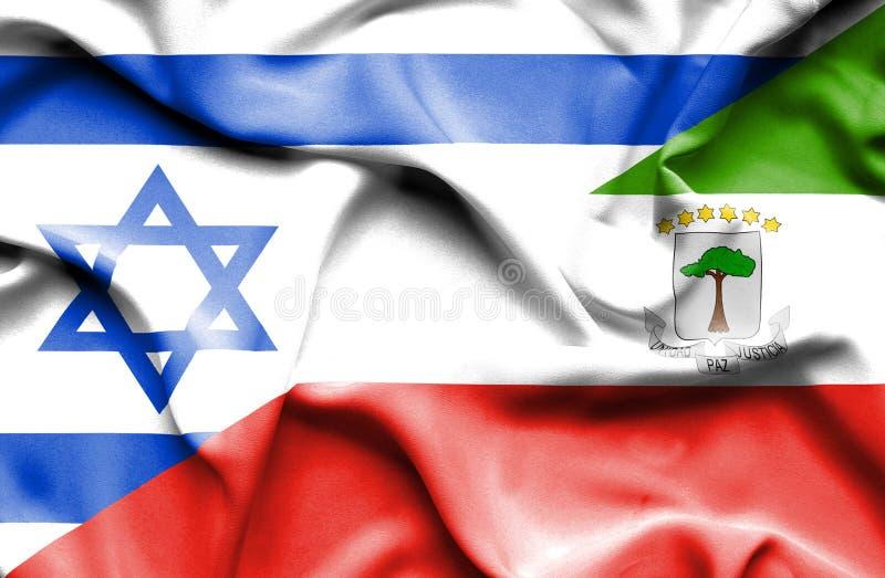 Machać chorągwiany Podrównikowy Giuinea i Izrael royalty ilustracja