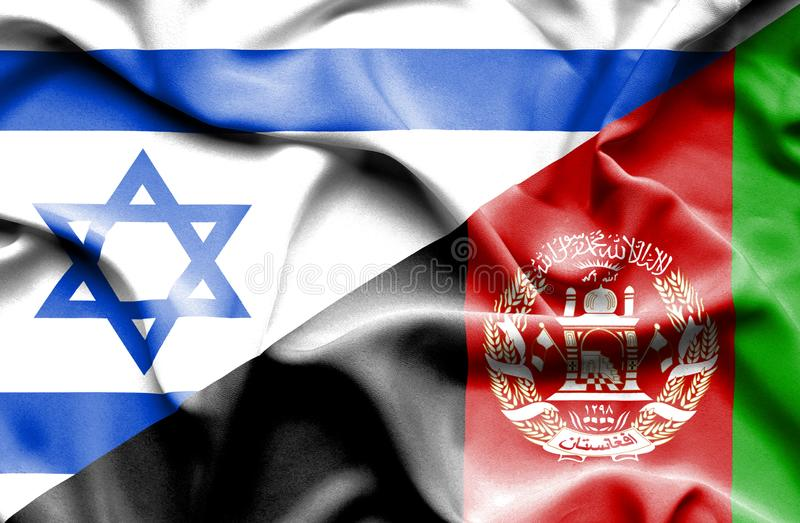 Machać flagę Afganistan i Izrael royalty ilustracja