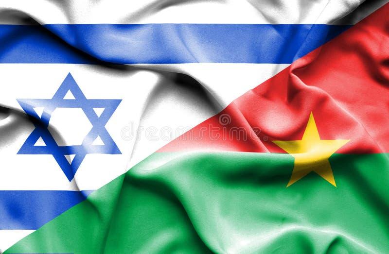 Machać flagę Burkina Faso i Izrael royalty ilustracja