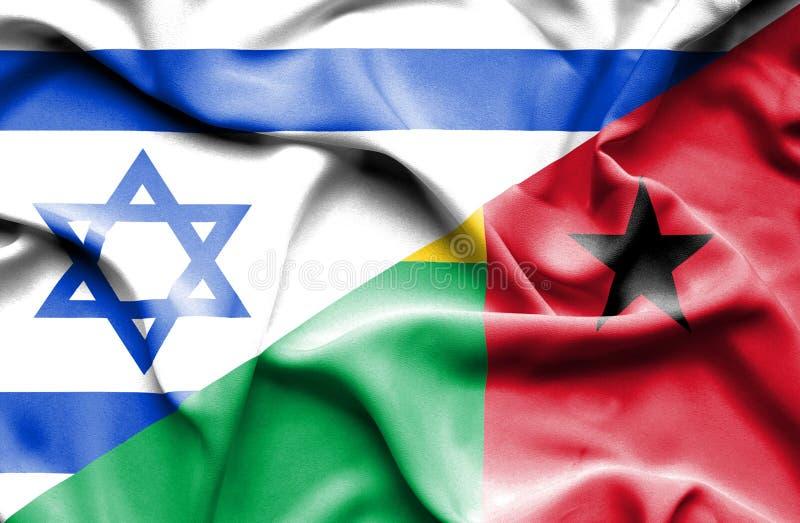 Machać flagę gwinea Bissau i Izrael ilustracja wektor