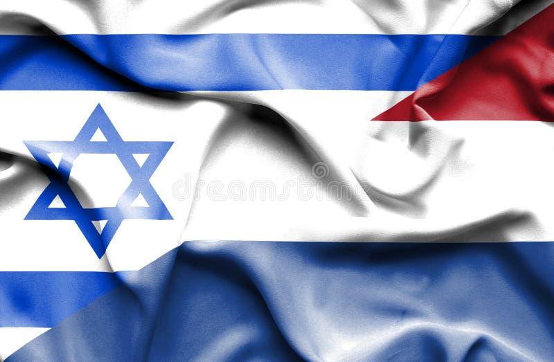 Machać flagę holandie i Izrael ilustracji
