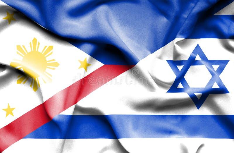 Machać flagę Izrael i Filipiny ilustracja wektor