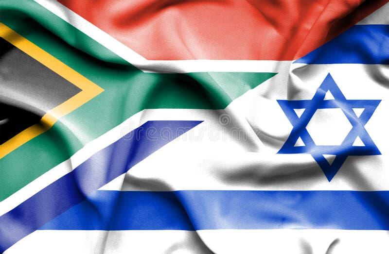 Machać flagę Izrael i Południowa Afryka royalty ilustracja
