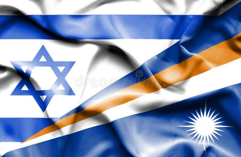 Machać flagę Marshall Izrael i wyspy royalty ilustracja