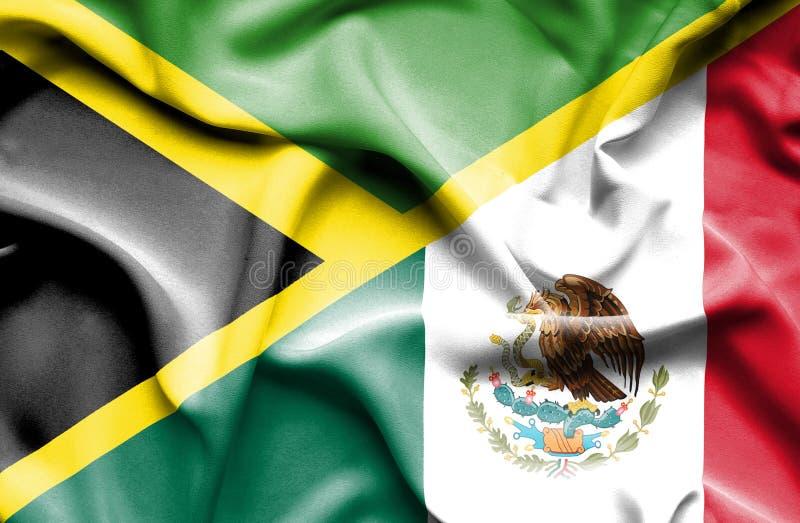 Machać flagę Meksyk i Jamajka ilustracji