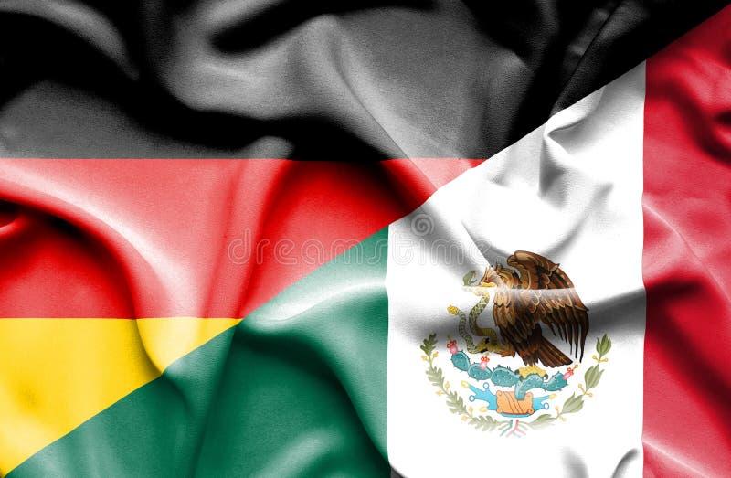 Machać flagę Meksyk i Niemcy ilustracji