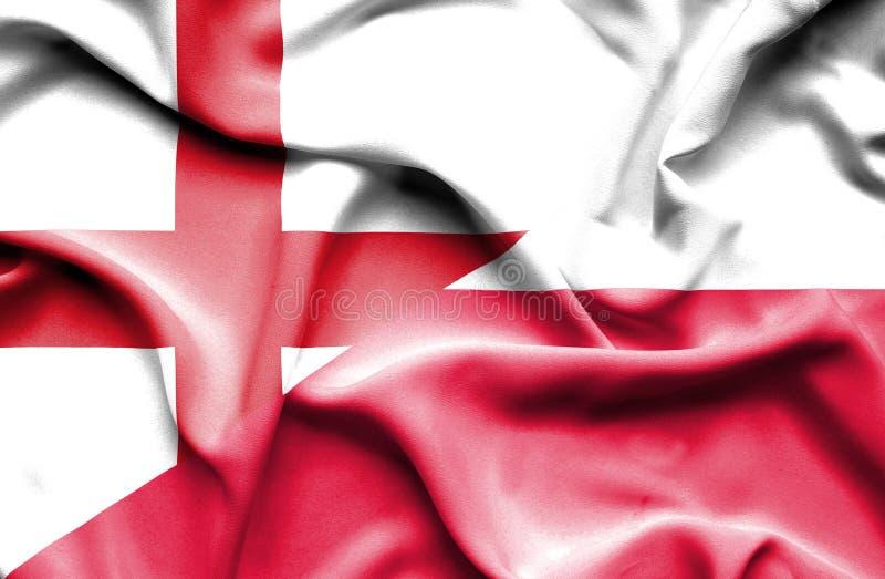 Machać flagę Polska i Anglia obrazy royalty free