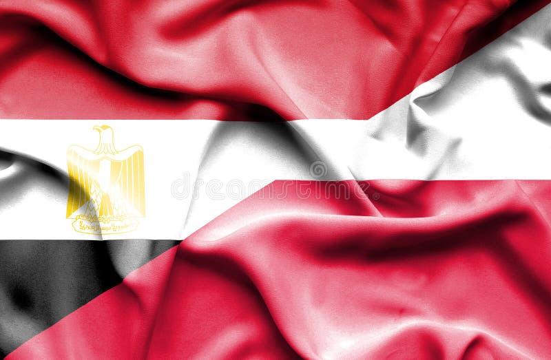 Machać flagę Polska i Egipt zdjęcie royalty free