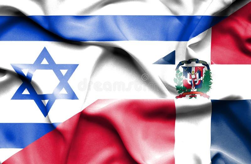 Machać flagę republika dominikańska i Izrael ilustracji