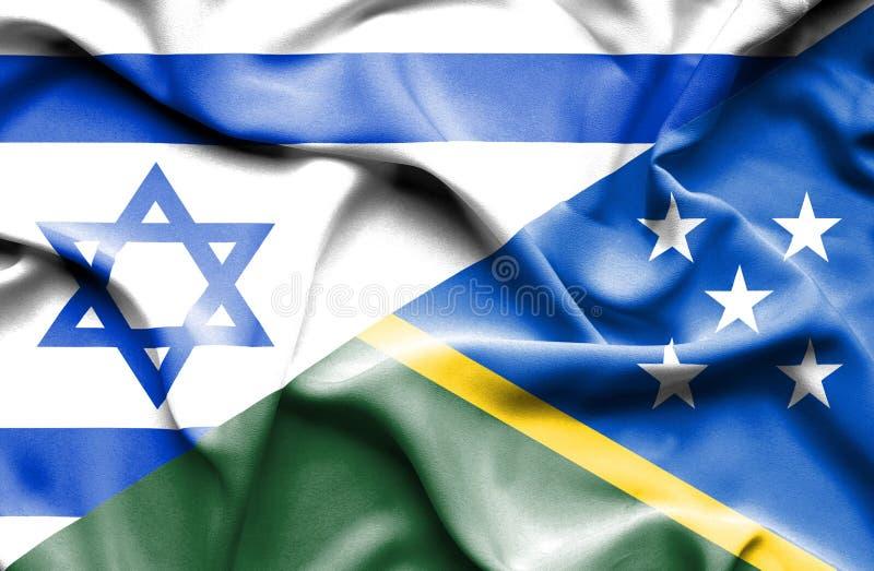 Machać flagę Solomon Izrael i wyspy royalty ilustracja