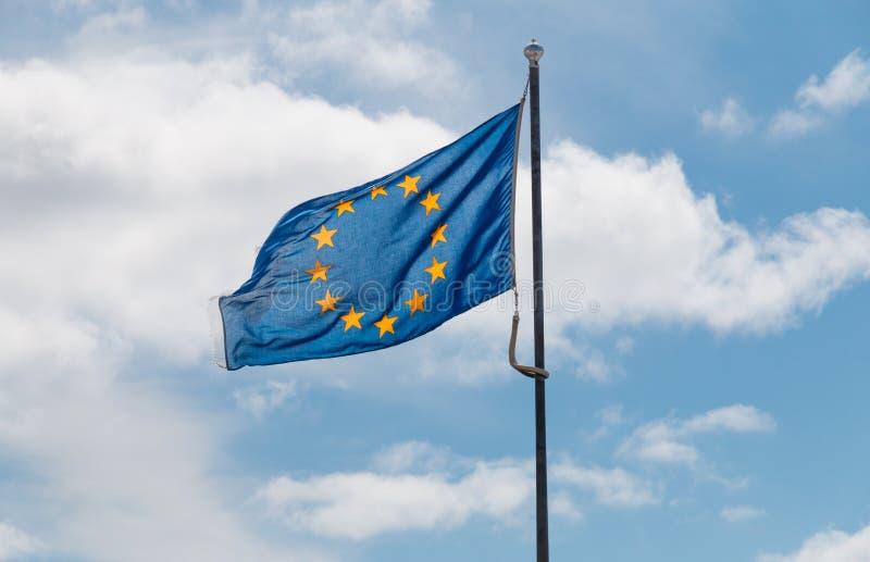 Machać flaga Europejski zjednoczenie zdjęcie royalty free