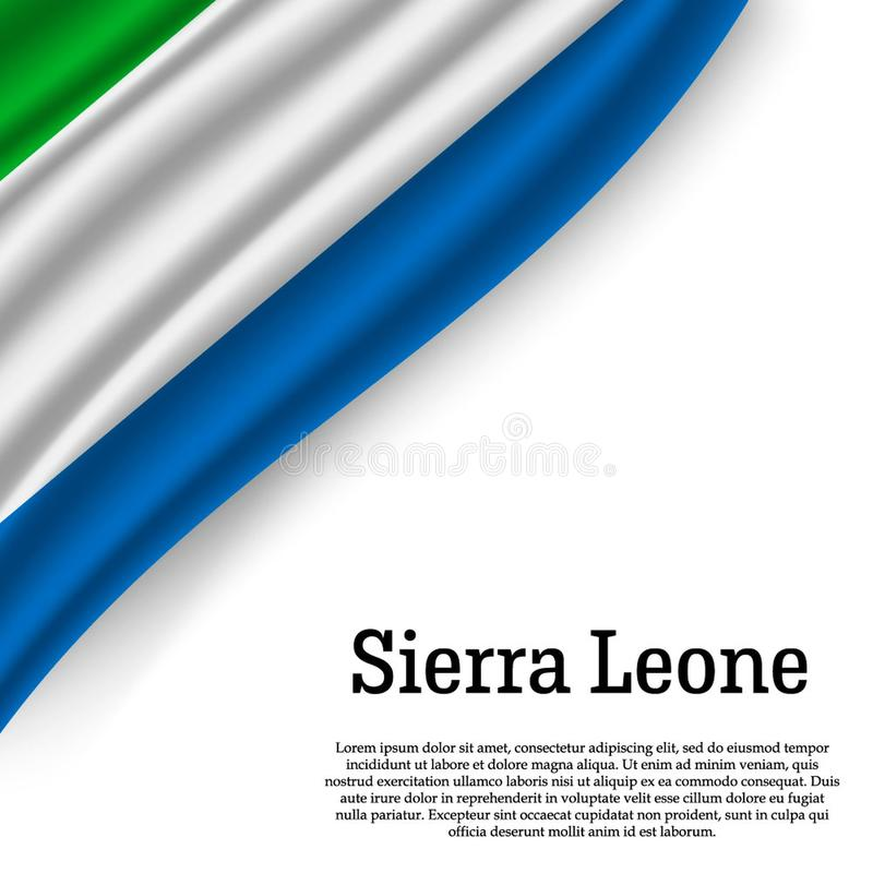 Machać flaga sierra leone royalty ilustracja