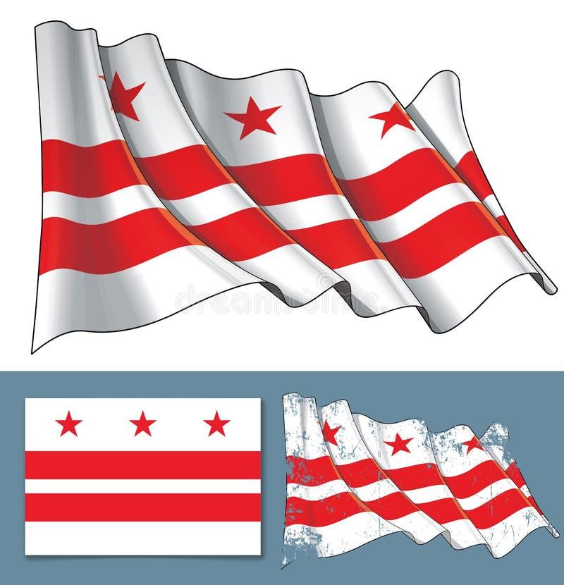 Machać flaga washington dc ilustracja wektor