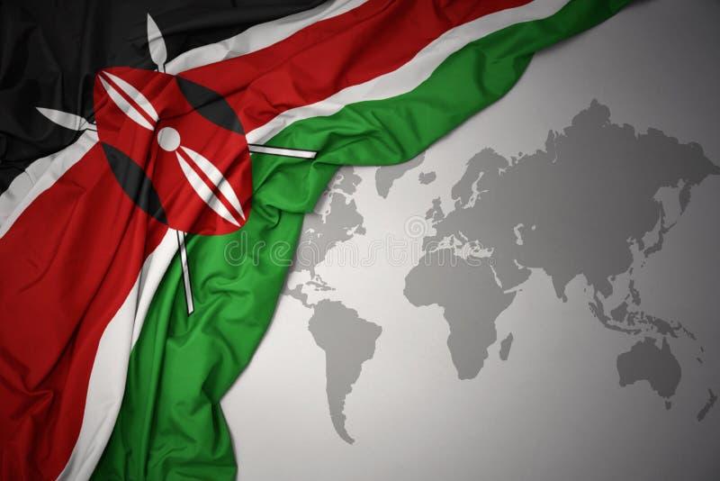 Machać kolorową flaga państowowa Kenya