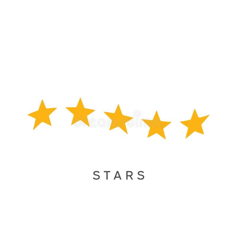 Machać pięć gwiazd oszacowywa symbol royalty ilustracja