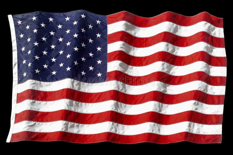 machał amerykańskiej flagi zdjęcia stock