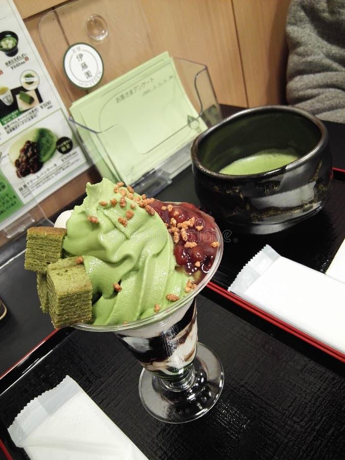 Macha冰淇凌在神奈川日本 图库摄影