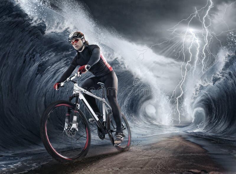 Macha cyklisty obraz royalty free