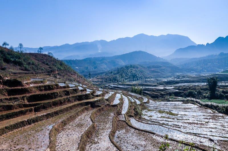 Macha dorp-sapa stock afbeelding