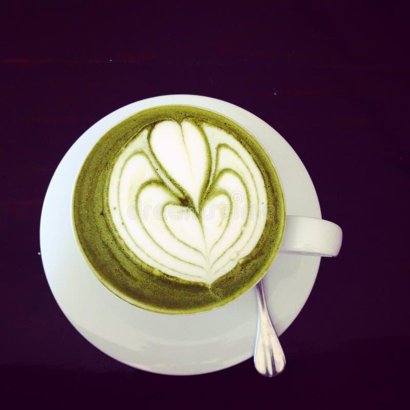 Macha groene thee latte royalty-vrije stock fotografie