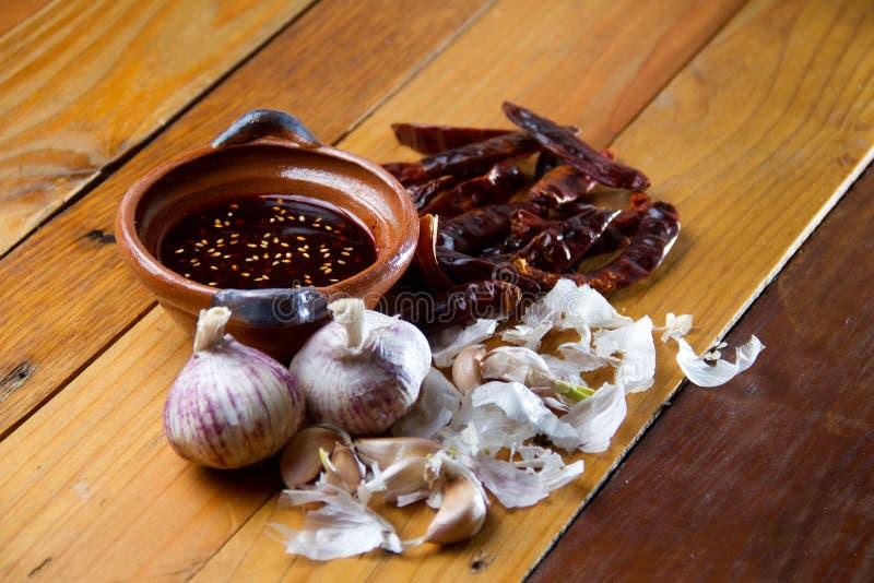 Macha mexicano de la salsa fotografía de archivo