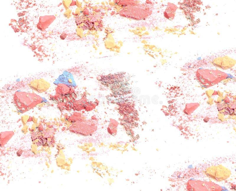 Machacado componga el fondo del polvo imagen de archivo libre de regalías