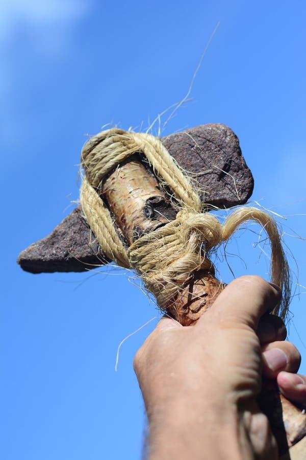 Machados de Viking da pedra imagens de stock royalty free