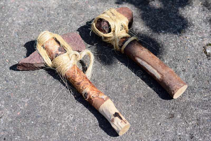 Machados de Viking da pedra fotografia de stock royalty free