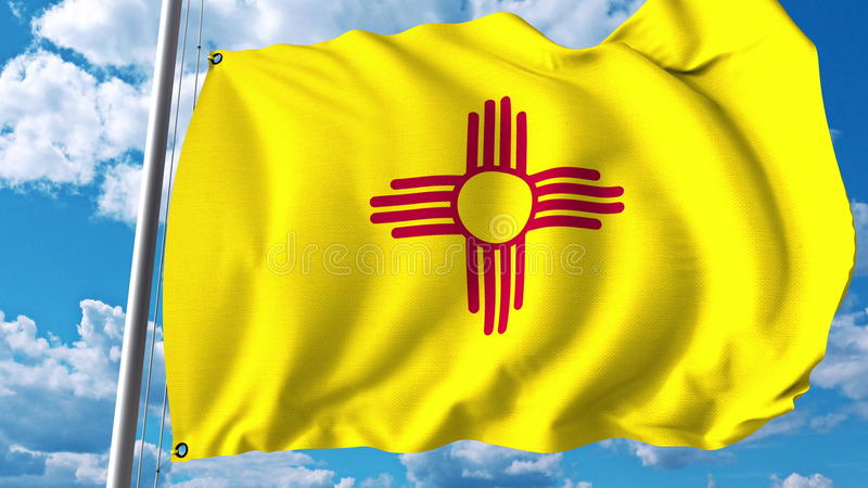 Machający flaga Nowy - Mexico świadczenia 3 d fotografia royalty free