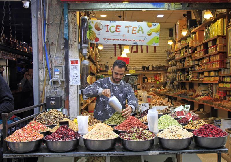 Machane Yehuda Market in Jerusalem, Israel stockfoto