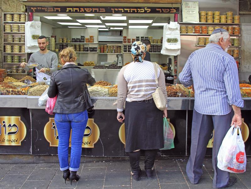 Machane Yehuda Market in Jerusalem, Israel stockbilder