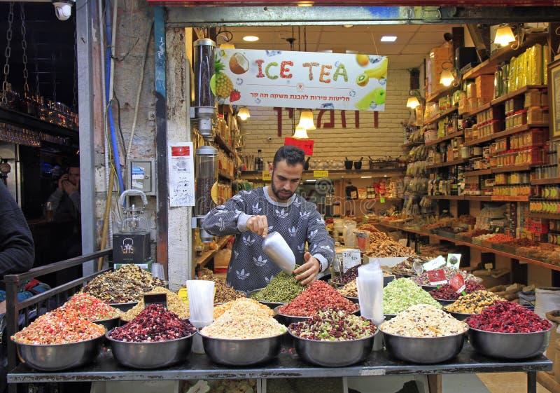 Machane Yehuda rynek w Jerozolima, Izrael zdjęcie stock