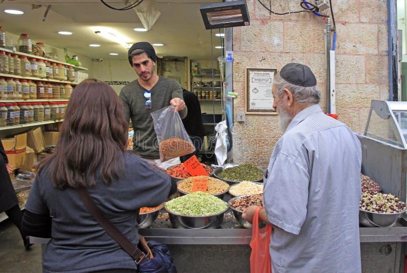 Machane Yehuda rynek w Jerozolima, Izrael zdjęcie royalty free