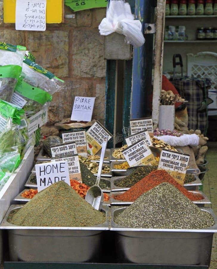 Machane Yehuda rynek w Jerozolima, Izrael fotografia royalty free