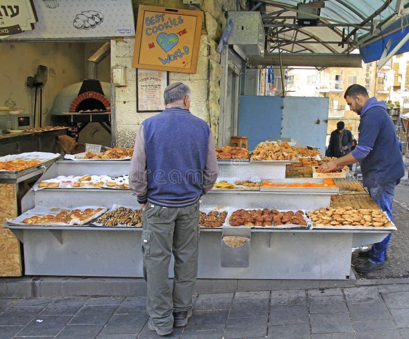 Machane Yehuda rynek w Jerozolima, Izrael obrazy stock