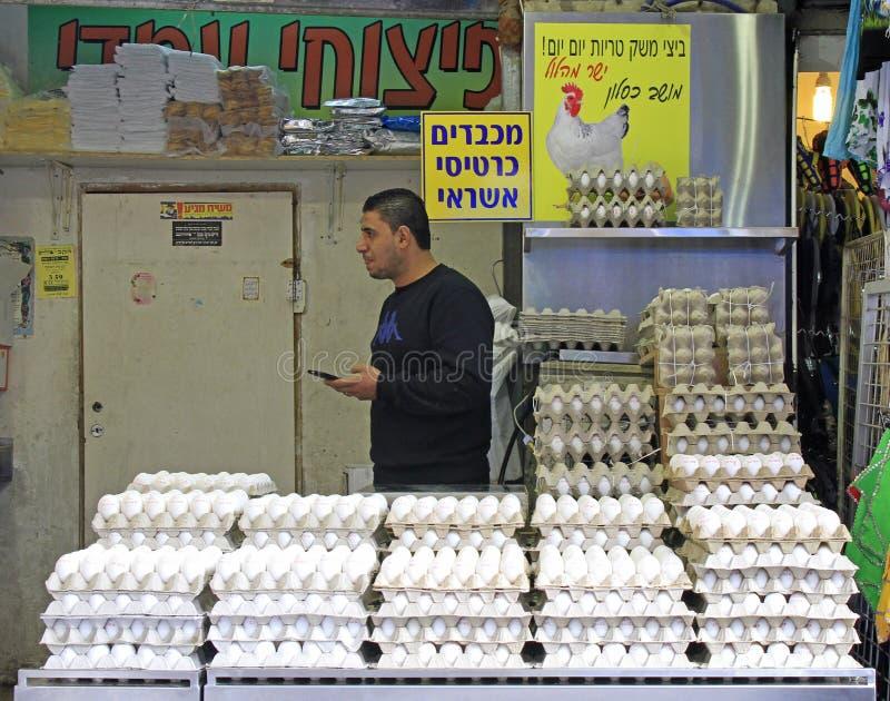 Machane Yehuda rynek w Jerozolima, Izrael obraz royalty free