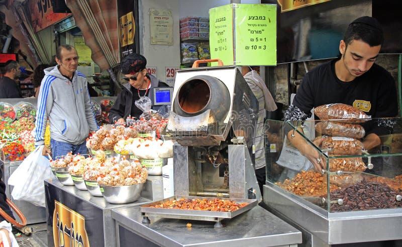 Machane Yehuda rynek w Jerozolima, Izrael fotografia stock
