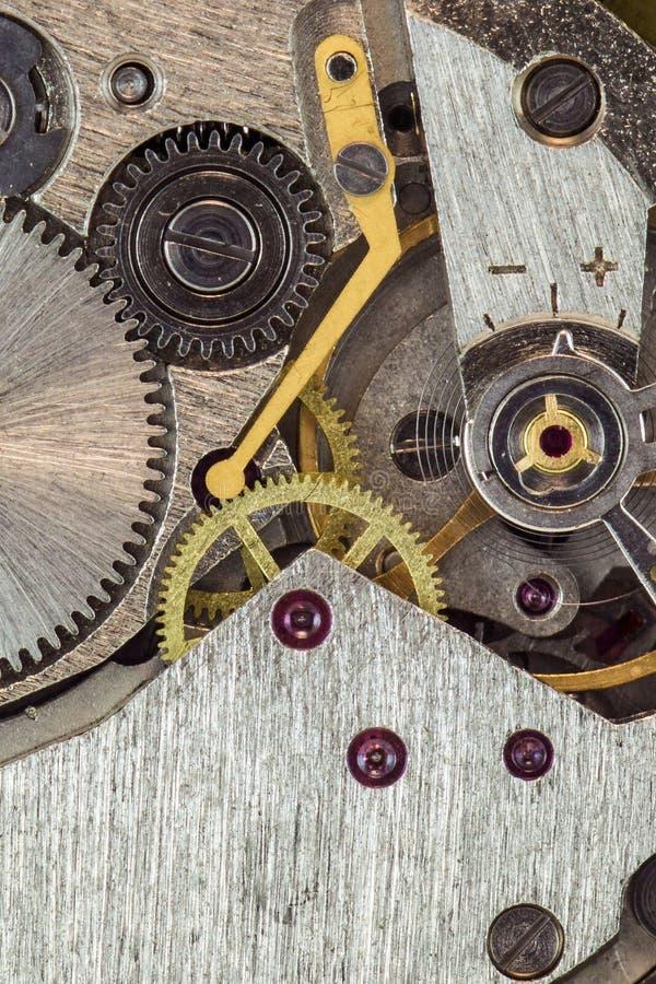Machanism dell'orologio fotografia stock