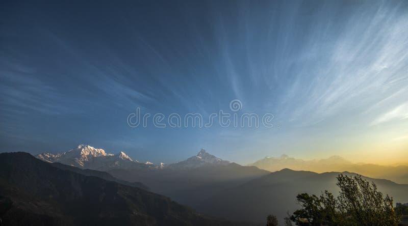 Machapuchare山 库存图片